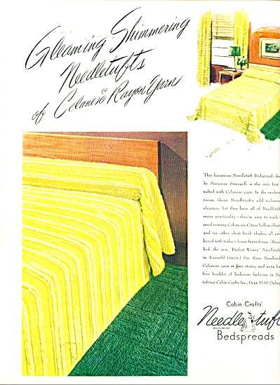 Needle Tuft Bedspreads Ad