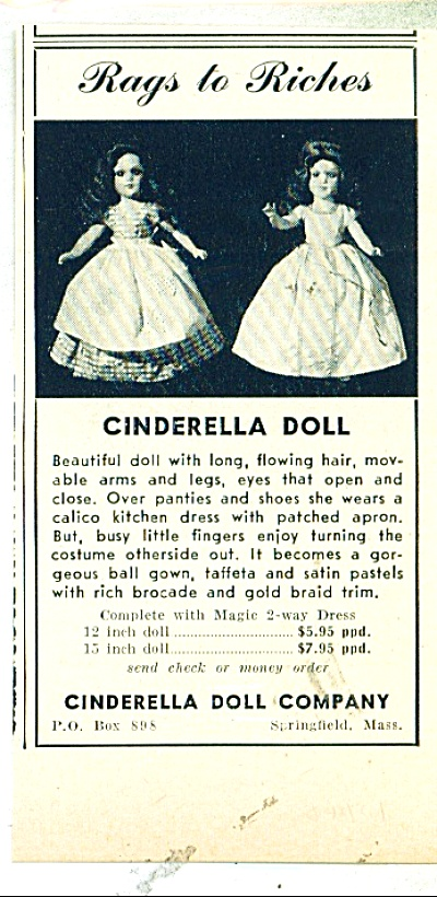 Cinderella doll company ad (Image1)