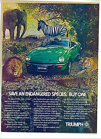 Vintage TRIUMPH Spitfire Endangered Species C (Image1)