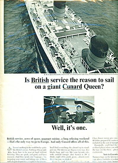 Cunard Queen liner ad -  1965 (Image1)