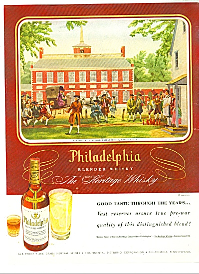 Philadelphia whisky ad - 1948JAMES BINGHAM (Image1)