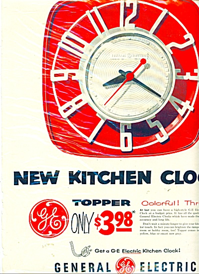 General electric Kitchen clock - 1954 ad (Image1)