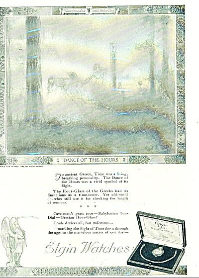 Vintage Elgin Watches ad HUGH RANKIN ART (Image1)