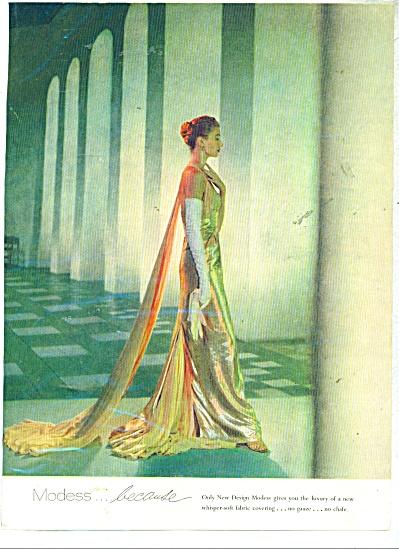Modess  ad - 1954 (Image1)