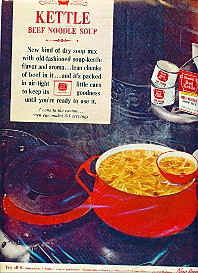 Campbell's Red kettle beef noodle soup ad (Image1)