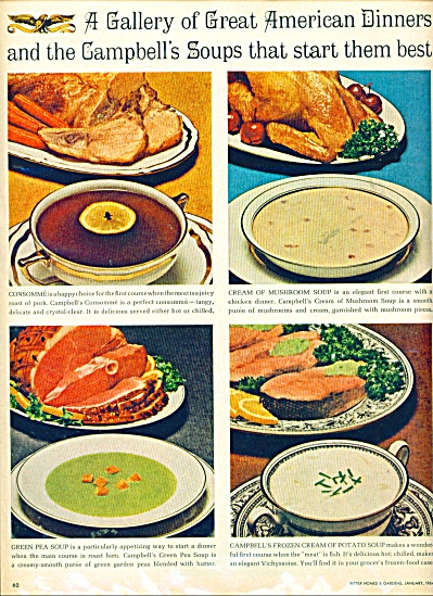 A gallery of dinners and campbell's soups ad (Image1)