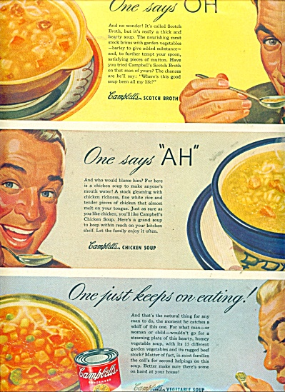 Campbell's Vegetable soup ad (Image1)