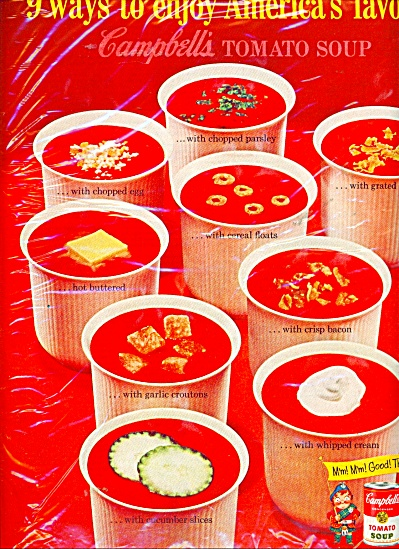 Campbell's tomato soup ad -  1953 (Image1)