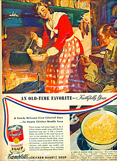 Campbell's chicken noodle soup ad - 1947 (Image1)