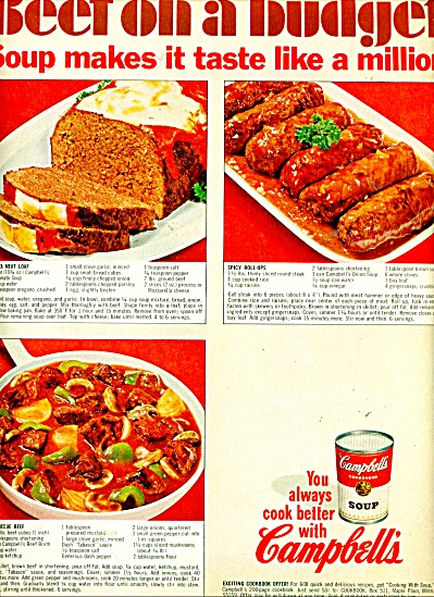 Campbell's Beef on a budget ad -  1967 (Image1)