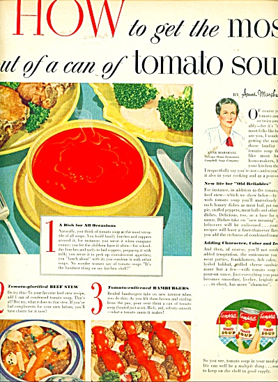 Tomato soup Campbell's ad (Image1)
