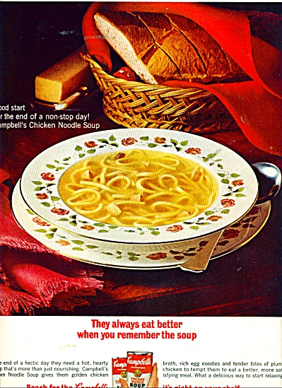 Campbell;s Chicken noodle soup ad   1965 (Image1)