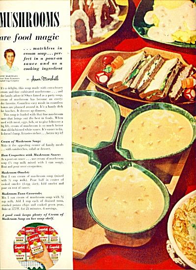 Campbell's Mushroom soup ad - 1953 (Image1)