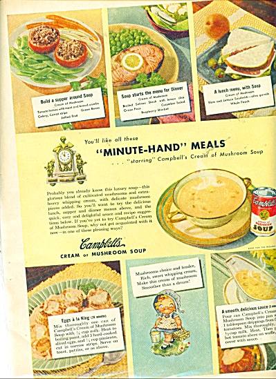 Minute hand meals by Campbell's ad - 1948 (Image1)
