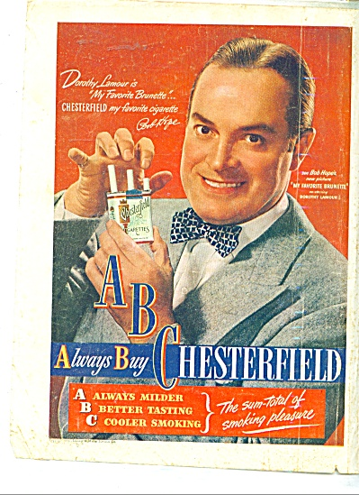Chesterfield ad BOB HOPE  - (Image1)