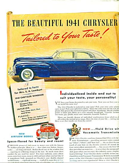 Buy Chrysler ad  - 1940 (Image1)