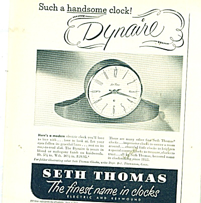 Seth Thomas Clock Ad