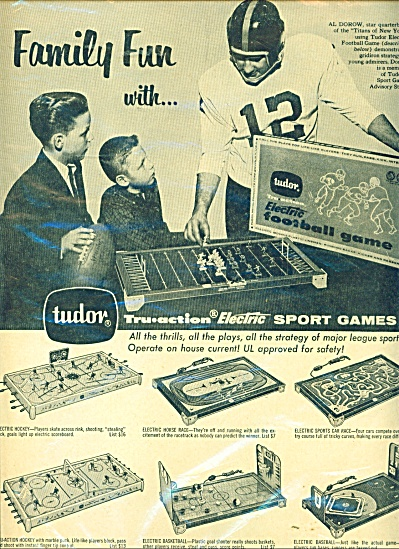 Tudor electric sport games ad   1961 (Image1)