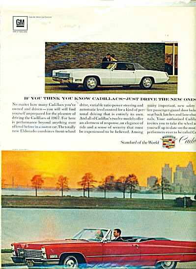 Cadillac Motors ad for 1967 (Image1)
