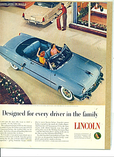 Lincoln automobile ad   1953 (Image1)