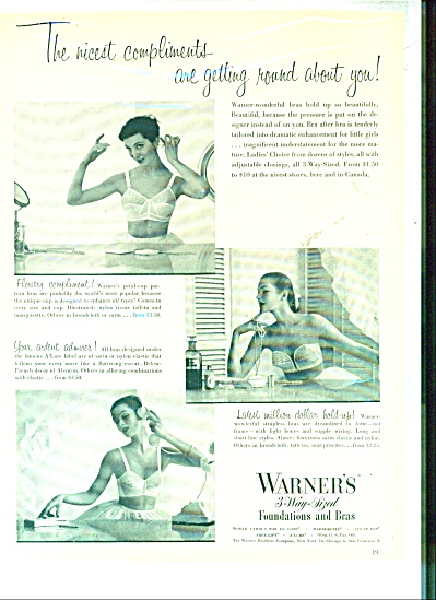 1950'S WARNER'S FOUNDATION - BRA AD MODELS (Image1)