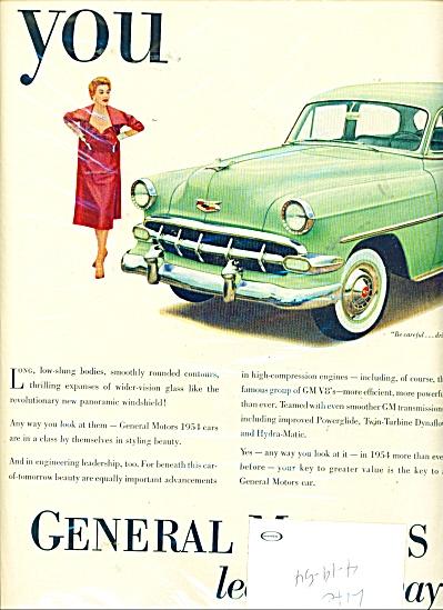 General Motors.  ad -  1954 (Image1)