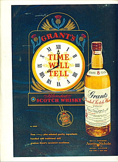 Grant's Blended Scotch Whiskey Ad - 1951