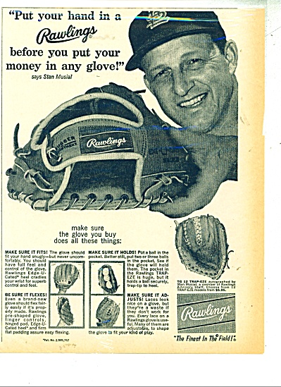 Rawlings sports gloves ad STAN MUSIAL (Image1)