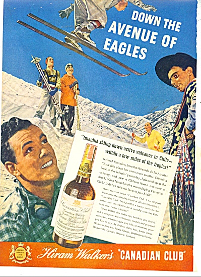 1938 Hiram Walker's AD SKIING in CHILE (Image1)