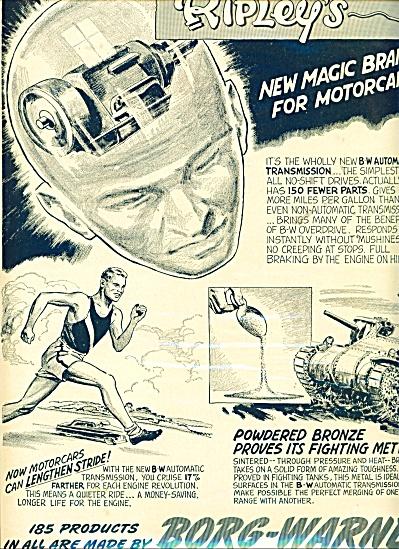 Borg Warner products ad - 1950 (Image1)