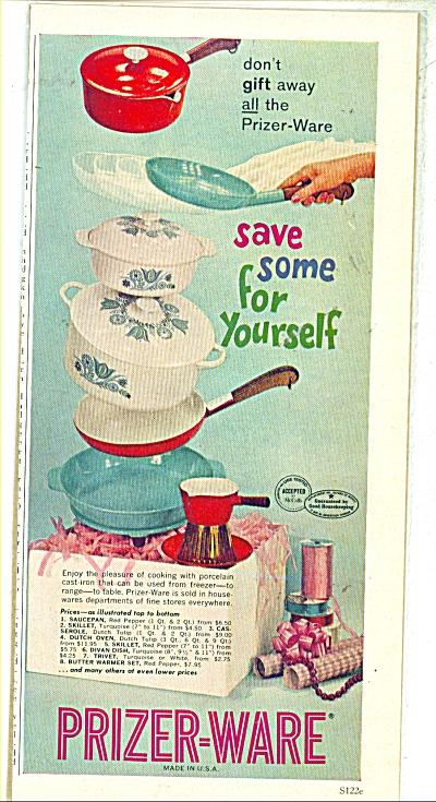 Prizer-Ware ad  - 1961 (Image1)