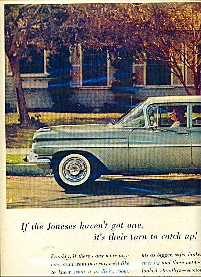 1959 Chevrolet  CHEVY 2PG CAR PROMO AD (Image1)