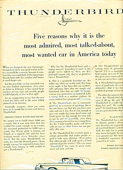 Thunderbird automobile ad (Image1)