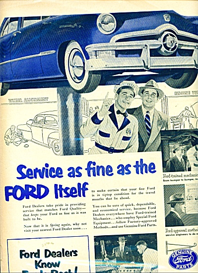 Ford Dealers know Fords best ad - 1950 (Image1)