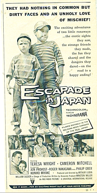 ESCAPADE IN JAPAN  Movie ad   1957 (Image1)