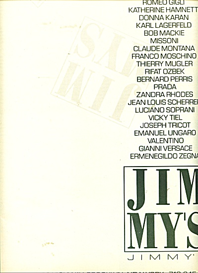 Jim My's - Jimmy's ad  1986 (Image1)