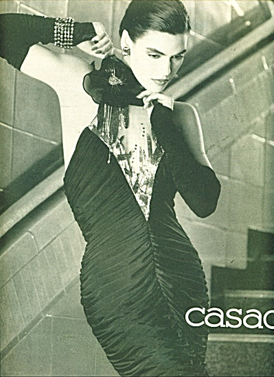 1986 CASADEI Photo AD Fabulous DRESS (Image1)