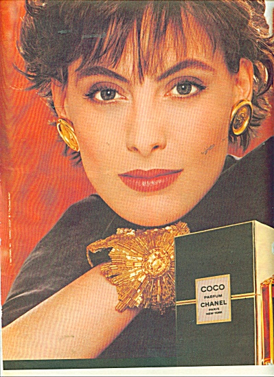 1986 COCO Perfume PARFUM AD Beautiful WOMAN (Image1)