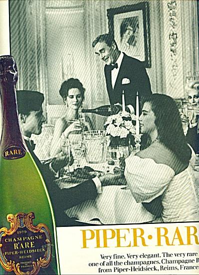 1986 Champagne Piper Rare  ad (Image1)