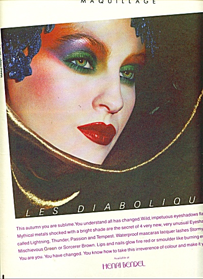 Christian Dior maquillage.  ad   1986 (Image1)
