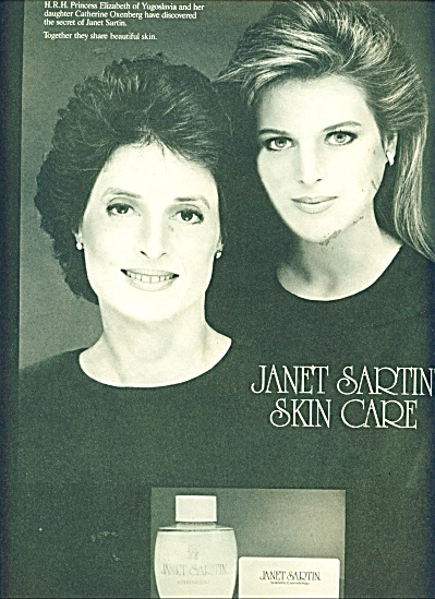 1986 Janet Sartin Skin Ad Catherine Oxenberg