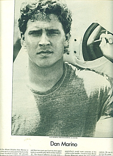 1986 DAN MARINO SEXY FOOTBALL PLAYER AD (Image1)