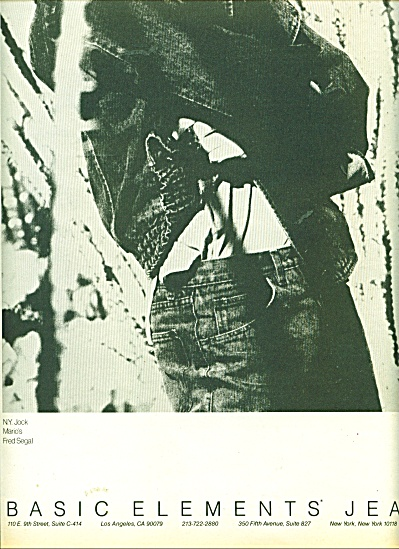 Basic Elements' Jeans ad - 1986 (Image1)