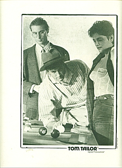 Tom Tailor Sportswear ad  1986 (Image1)