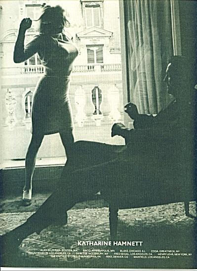 1986 Katharine Hamnett  ad   BUSTY WOMAN (Image1)