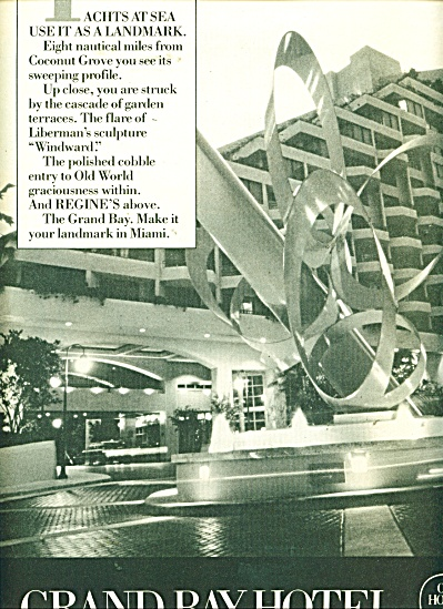 Grand Bay Hotel ad - 1986 (Image1)