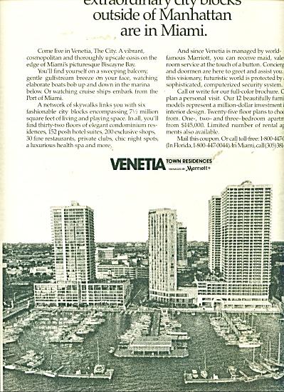 Venetia town residences ad   1986 (Image1)