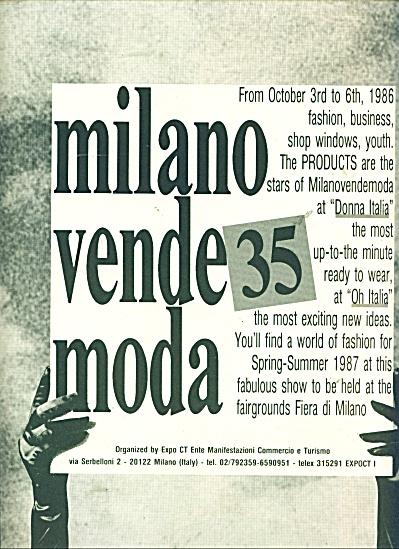 Milano vende Moda ad - 1986 (Image1)