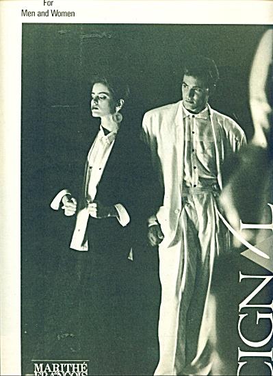 Marithe & Francois Girbaud ad - 1986 (Image1)