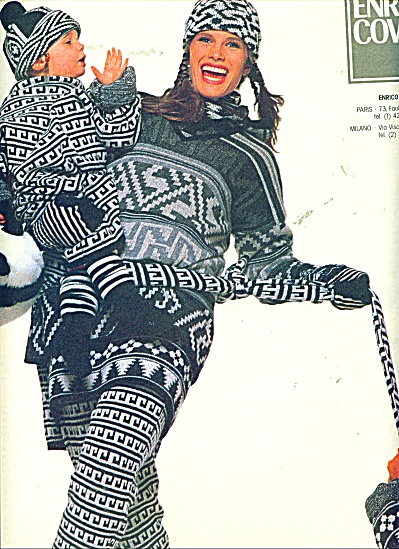 1986 ENRICO COVERI AD Lady Baby CLOTHING (Image1)